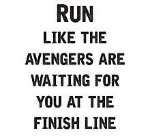 Run to the Avengers Photographic Print