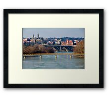 Georgetown, Frozen in January Framed Print