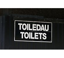 Welsh Toilet Sign Photographic Print