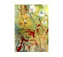 Mike on a trike Art Print