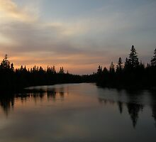 Sunset on Vermillion Lake by Janet Young