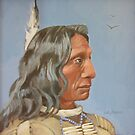 Red Cloud (from a 19th century photograph) by sally seabright