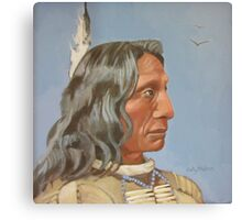 Red Cloud (from a 19th century photograph) Canvas Print
