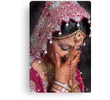 THE BLUSHING BRIDE Canvas Print