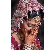 THE BLUSHING BRIDE Photographic Print