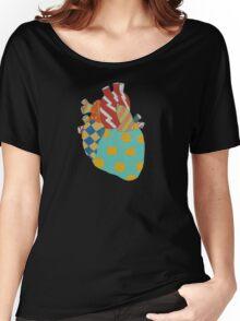 POLKA-DOT HEART Women's Relaxed Fit T-Shirt