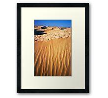 Fiery desert sand Framed Print