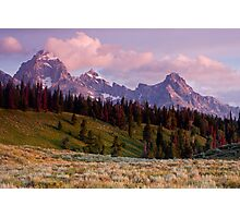 The Grand, Teewinot, and Mt. Owen... the Tetons Photographic Print