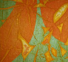 Collograph: Collagraphic Leaves by Marion Chapman