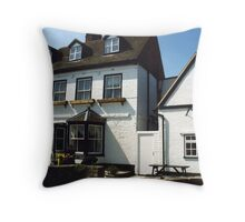 Swan Hotel Throw Pillow