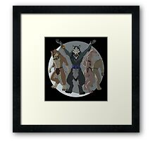 Were Pride  - Pack - Black Background Framed Print