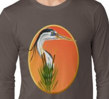 Blue Heron framed Long Sleeve T-Shirt