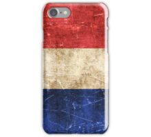 Vintage Aged and Scratched French Flag iPhone Case/Skin
