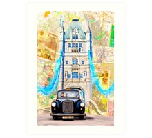 Black London Taxi - Classic British Style Art Print
