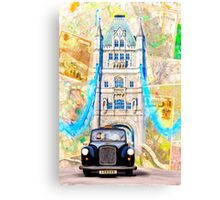Black London Taxi - Classic British Style Canvas Print