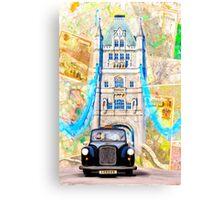 Black London Taxi - Classic British Style Canvas Print