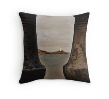 Pillars Throw Pillow