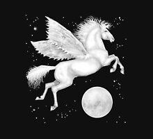 Winged Horse Over Moon Unisex T-Shirt