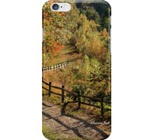 Broken Fence Rail on Quabbin Trail iPhone Case/Skin