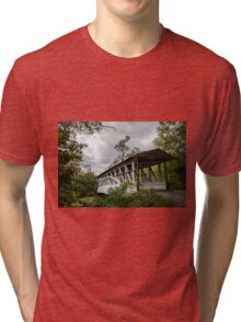 Covered Bridge in Bedford PA Tri-blend T-Shirt