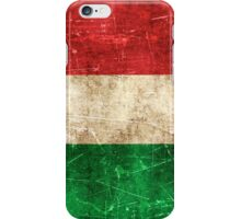 Vintage Aged and Scratched Italian Flag iPhone Case/Skin