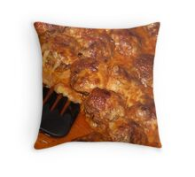 Italian Meatballs just out of oven Throw Pillow