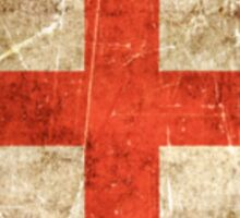 Vintage Aged and Scratched English Flag Sticker