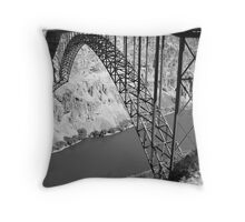Perrine Bridge over the Snake river . Throw Pillow