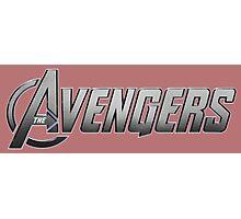 avengers movie comic book logo shirt Photographic Print
