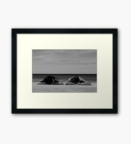In Homage To Max Dupain - 'Sunbathers #2' Framed Print