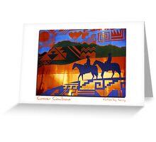 Copper Cowboys Greeting Card
