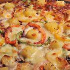 Freshly Made Home Baked Pizza by John Hooton