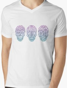 Candy Skulls Mens V-Neck T-Shirt