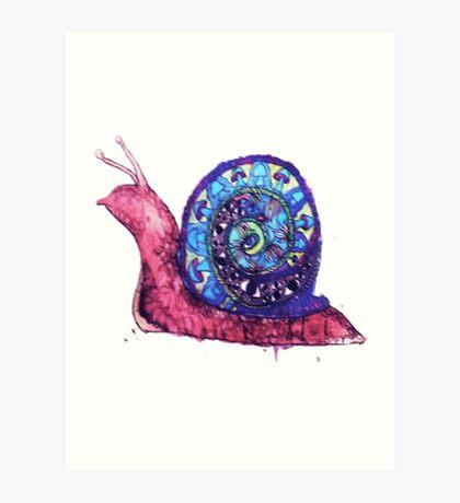 Trippy Snail Art Print