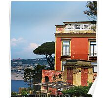 Sorrento Italy with sea view Poster
