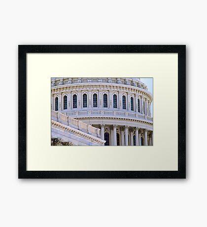 US Capitol Dome, Closeup Framed Print
