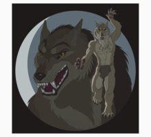 Were Pride  - Tan Wolf - Black Background T-Shirt