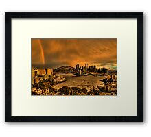 Under The Arches - Moods Of A City - The HDR Experience Framed Print