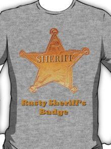 Rusty Sheriff's Badge T-Shirt