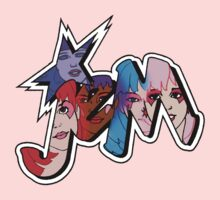 Jem and the Holograms - Logo - Group Color Kids Clothes