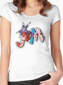 Jem and the Holograms - Logo - Group Color Women's Fitted Scoop T-Shirt