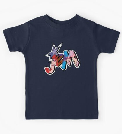 Jem and the Holograms - Logo - Group Color Kids Tee