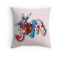 Jem and the Holograms - Logo - Group Color Throw Pillow