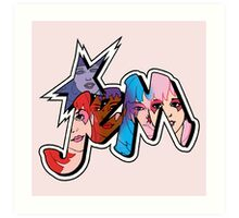 Jem and the Holograms - Logo - Group Color Art Print