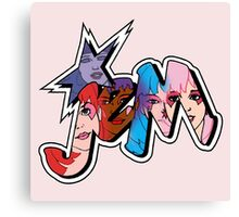 Jem and the Holograms - Logo - Group Color Canvas Print