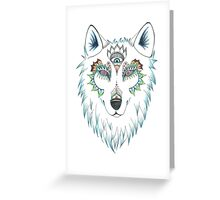 Wolf Design Greeting Card