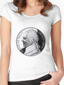 In Dave we Trust (full size) Women's Fitted Scoop T-Shirt