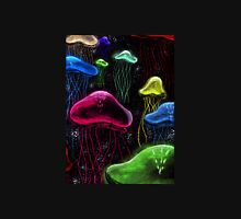 Colorful Jellyfish Black Background Unisex T-Shirt