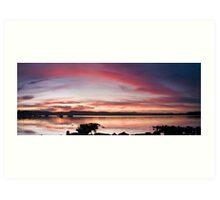 Saratoga Sunset Art Print
