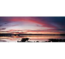 Saratoga Sunset Photographic Print